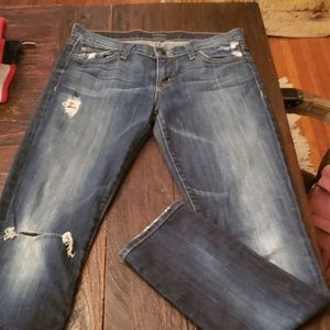 Hudson distressed jeans 28